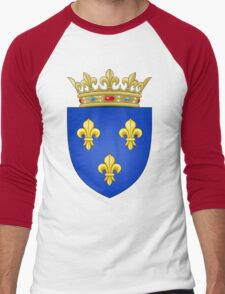 Royal French Coat of Arms, 1376–1515 Men's Baseball ¾ T-Shirt
