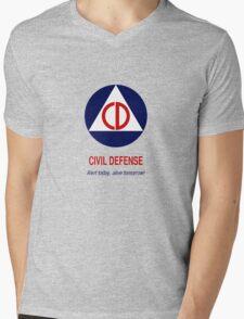 Civil Defense - Alert today, alive tomorrow! Mens V-Neck T-Shirt