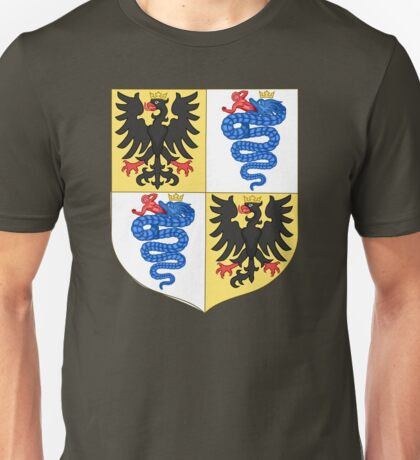 Coat of Arms of House Sforza in Milan Unisex T-Shirt