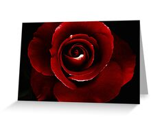 Blood Red.. Greeting Card
