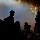 Cave mist silhouette, White Cliff Cave, Thailand by John Spies