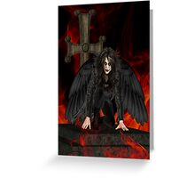 Dark Angel .. the vampires reaper Greeting Card