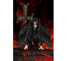 Dark Angel .. the vampires reaper Photographic Print