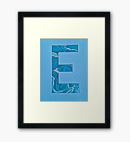 Letters of the alphabet  E Framed Print