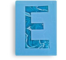 Letters of the alphabet  E Canvas Print
