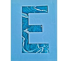 Letters of the alphabet  E Photographic Print