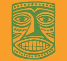 Tiki Mask II - Green by Artberry