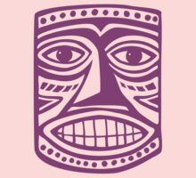 Tiki Mask II - Magenta by Artberry