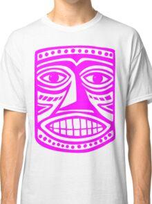 Tiki Mask II - Magenta Classic T-Shirt