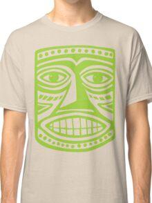 Tiki Mask II - Martian Green Classic T-Shirt