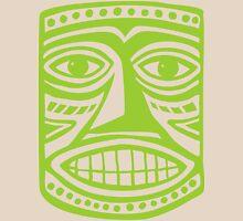 Tiki Mask II - Martian Green Unisex T-Shirt
