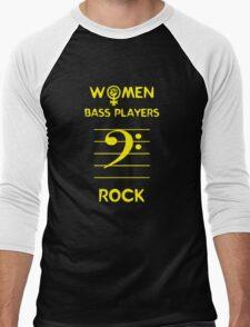 Women Bass Players Rock Men's Baseball ¾ T-Shirt