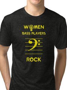 Women Bass Players Rock Tri-blend T-Shirt
