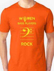 Women Bass Players Rock Unisex T-Shirt