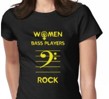 Women Bass Players Rock Womens Fitted T-Shirt