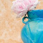 Peony in a Blue Pot by Platslee