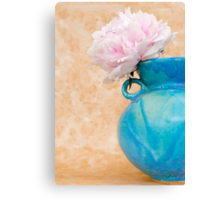 Peony in a Blue Pot Canvas Print
