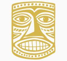 Tiki Mask II - Amber by Artberry