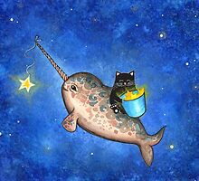 Hanging Stars with a Friendly Narwhal by Annya Kai