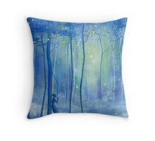 Fairy Fantasy Forest Throw Pillow
