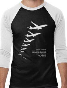Flying Saucers as 737s Men's Baseball ¾ T-Shirt