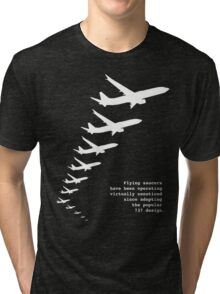 Flying Saucers as 737s Tri-blend T-Shirt