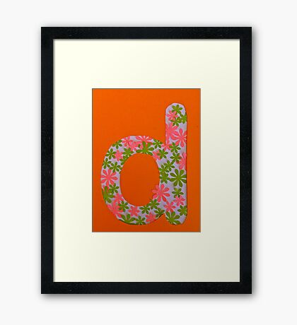 Letters of the alphabet D Framed Print