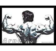 Arnold Schwarzenegger - Double Rear Biceps Photographic Print