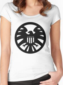 S.H.I.E.L.D. seal Women's Fitted Scoop T-Shirt