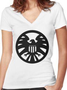 S.H.I.E.L.D. seal Women's Fitted V-Neck T-Shirt