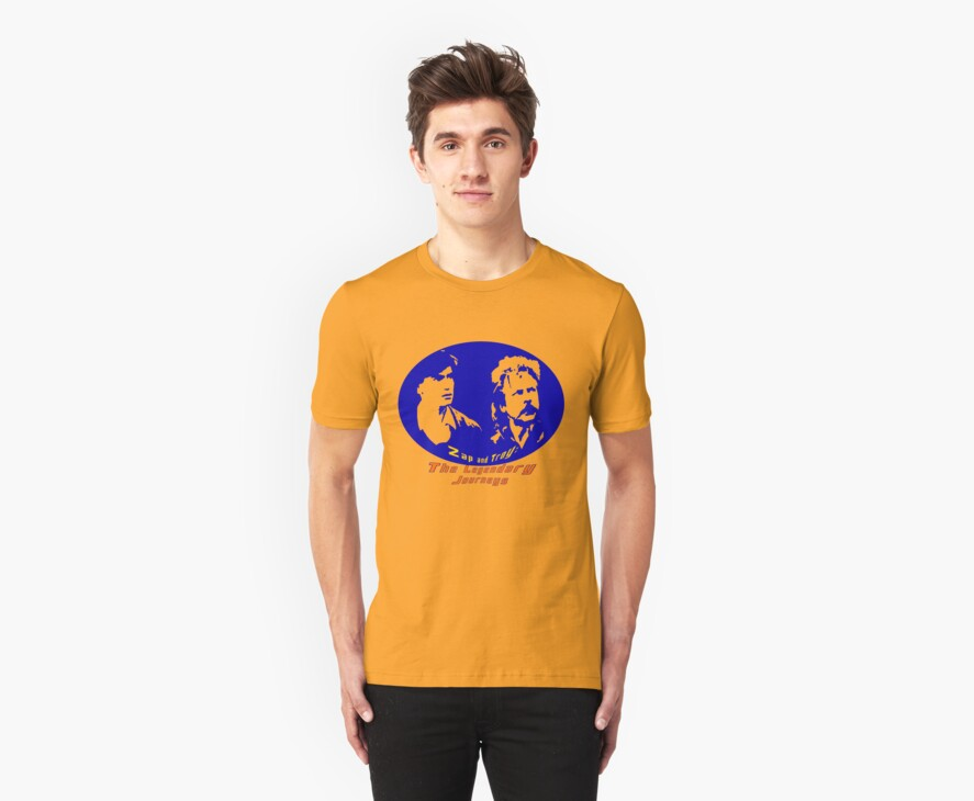 Rowsdower:  Zap And Troy the Legendary Journeys Tee (colorful version) by Margaret Bryant