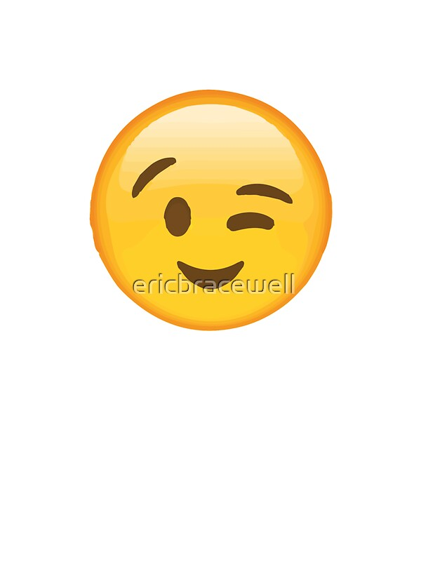 Quot Winky Face Emoji Quot Stickers By Ericbracewell Redbubble