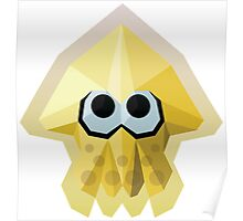Splatoon Low-Poly Yellow Squid Poster