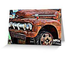 Old Rusty Ford Truck Greeting Card