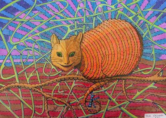 339 - CHESHIRE CAT - DAVE EDWARDS - COLOURED PENCILS - 2011 by BLYTHART
