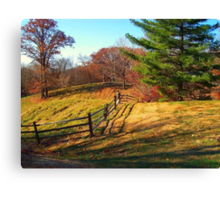 Crooked Fence Canvas Print