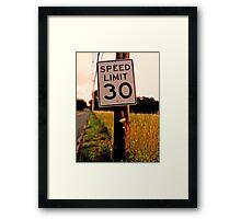 30 Miles Framed Print