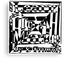 Book Cover Alternate Maze by Yonatan Frimer Canvas Print