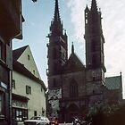 Cathedral Basel Switzerland 198406290001 by Fred Mitchell