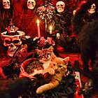 Venus & Di Milo ~ Gothic Kitty Cat Kittens in Halloween Art Decor by Chantal PhotoPix