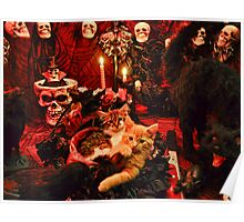 Venus & Di Milo ~ Gothic Kitty Cat Kittens in Halloween Art Decor Poster