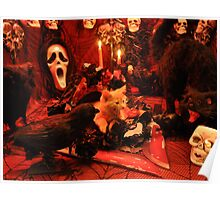Di Milo ~ The Scream ~ Gothic Kitty Cat Kitten in Halloween Horror House Poster