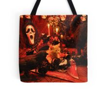 Di Milo ~ The Scream ~ Gothic Kitty Cat Kitten in Halloween Horror House Tote Bag