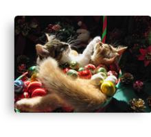 Venus & Di Milo ~ Serenity ~ Christmas Kittens Canvas Print