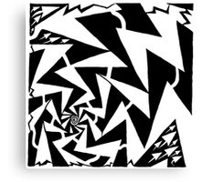 Electric Swirl Maze Canvas Print