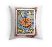 Wheel Of Fortune Tarot Card Throw Pillow