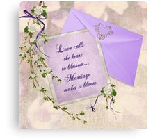 Wedding Blossoms Canvas Print