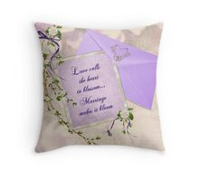 Wedding Blossoms Throw Pillow
