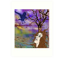 Raven and Me Art Print