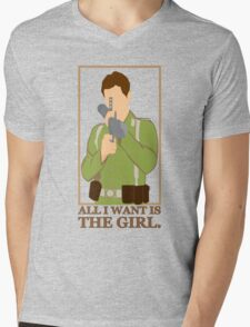 "Indiana Jones - ""All I Want is the Girl"" Mens V-Neck T-Shirt"